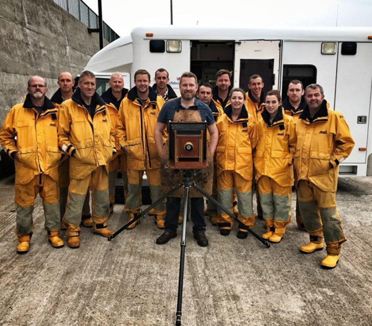 A photographer is capturing Ireland's lifeboat crews with Victorian techniques