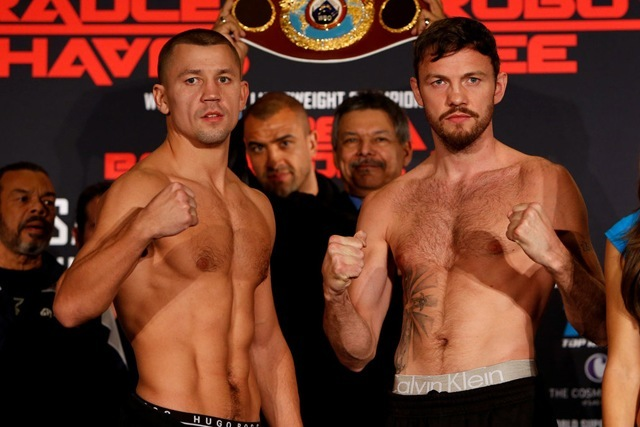 Andy Lee and Russian boxer Matt Koborov in Las Vegas