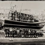 The Lifeboat Station Project: 12x10 inch Ambrotype by Jack Lowe The Ilfracombe RNLI crew, Thursday 25th June 2015, on their brand new Shannon Class lifeboat, 13-09 RNLB The Barry and Peggy High Foundation. The naming ceremony for this and the launch and recovery system was the next day.