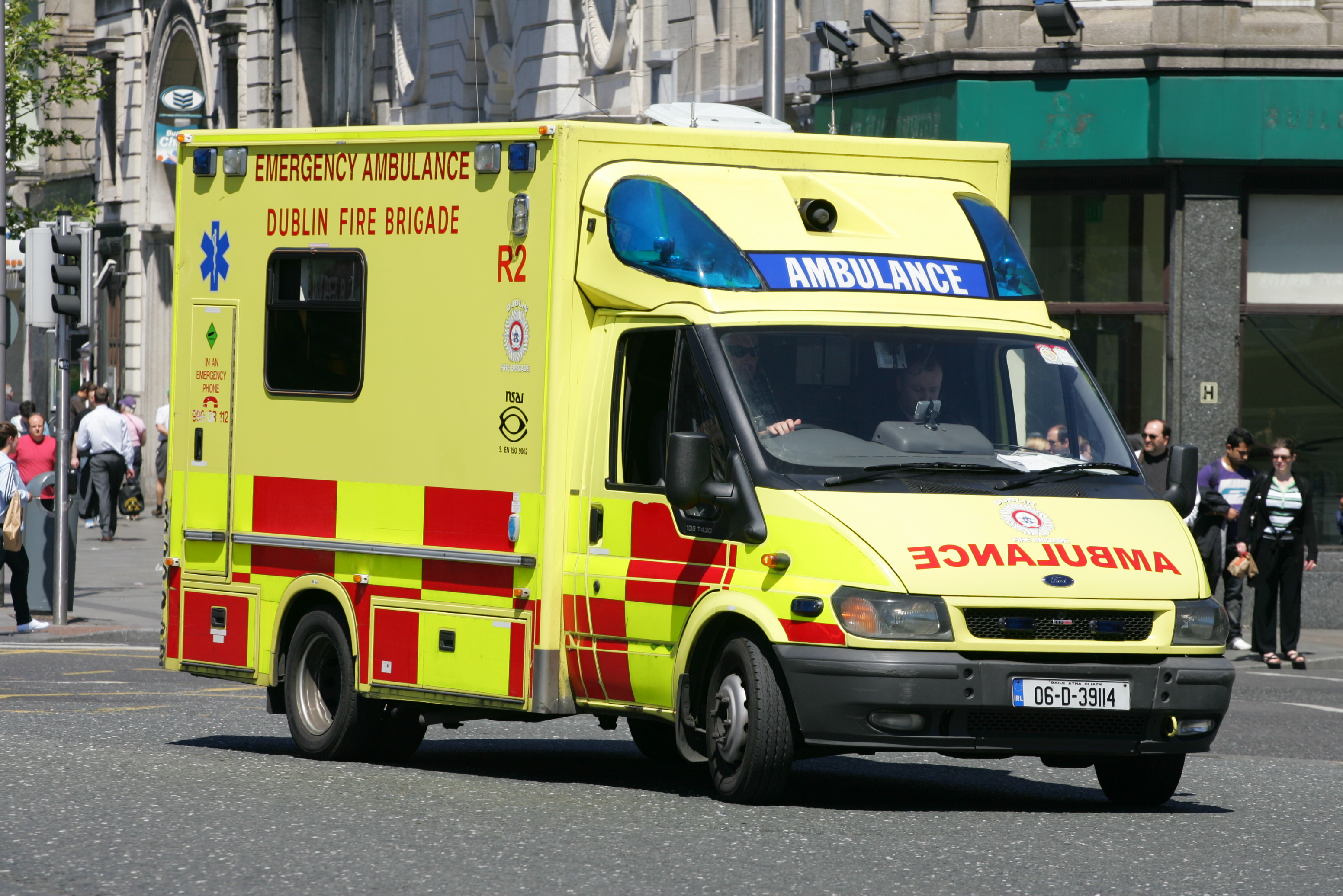 New Ambulances For Dublin Fire Brigade Fitted With Solar Panels And Re-Generative Braking