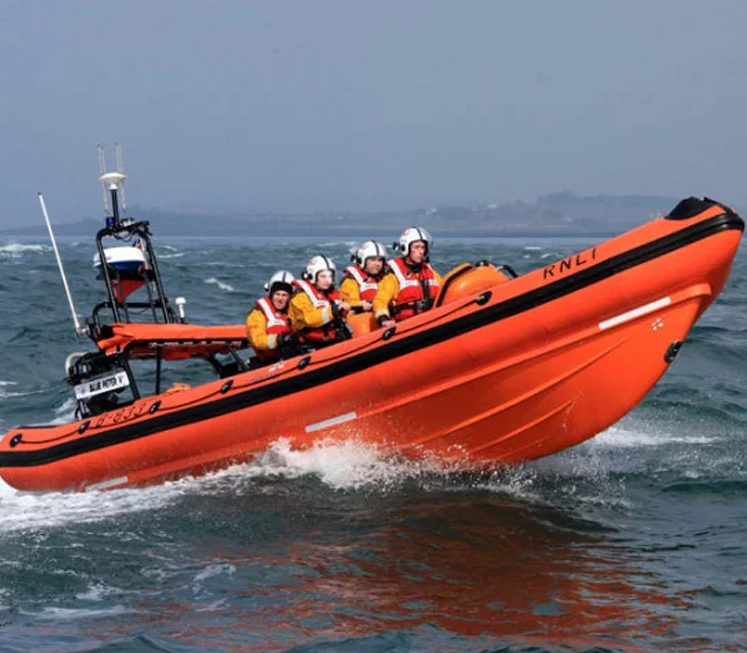 RNLI Crew Helps Rescue Fisherman After Collision