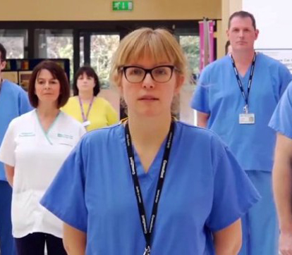 Powerful 'Stay At Home' from healthcare workers