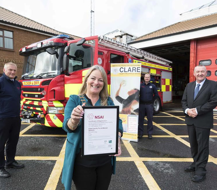 Clare Fire Service Achieves International Health and Safety Accreditation
